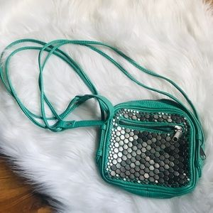 UO DEENA & OZZY green stud crossbody purse